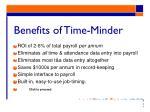benefits of time minder