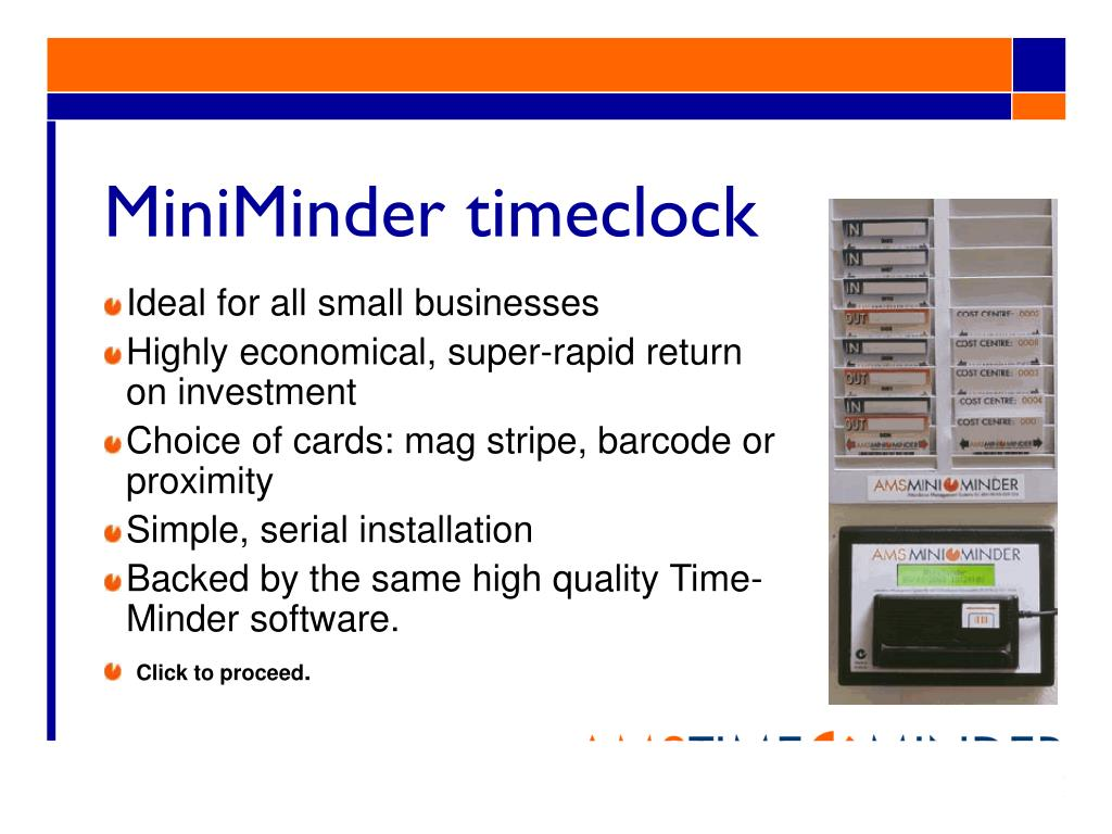 MiniMinder timeclock