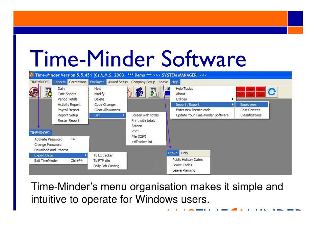 Time-Minder Software