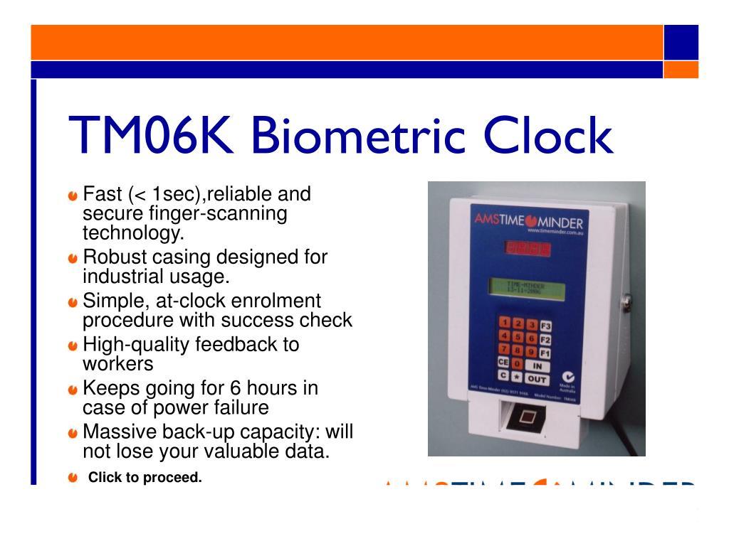 TM06K Biometric Clock