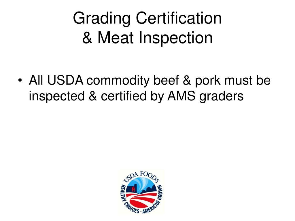 Grading Certification