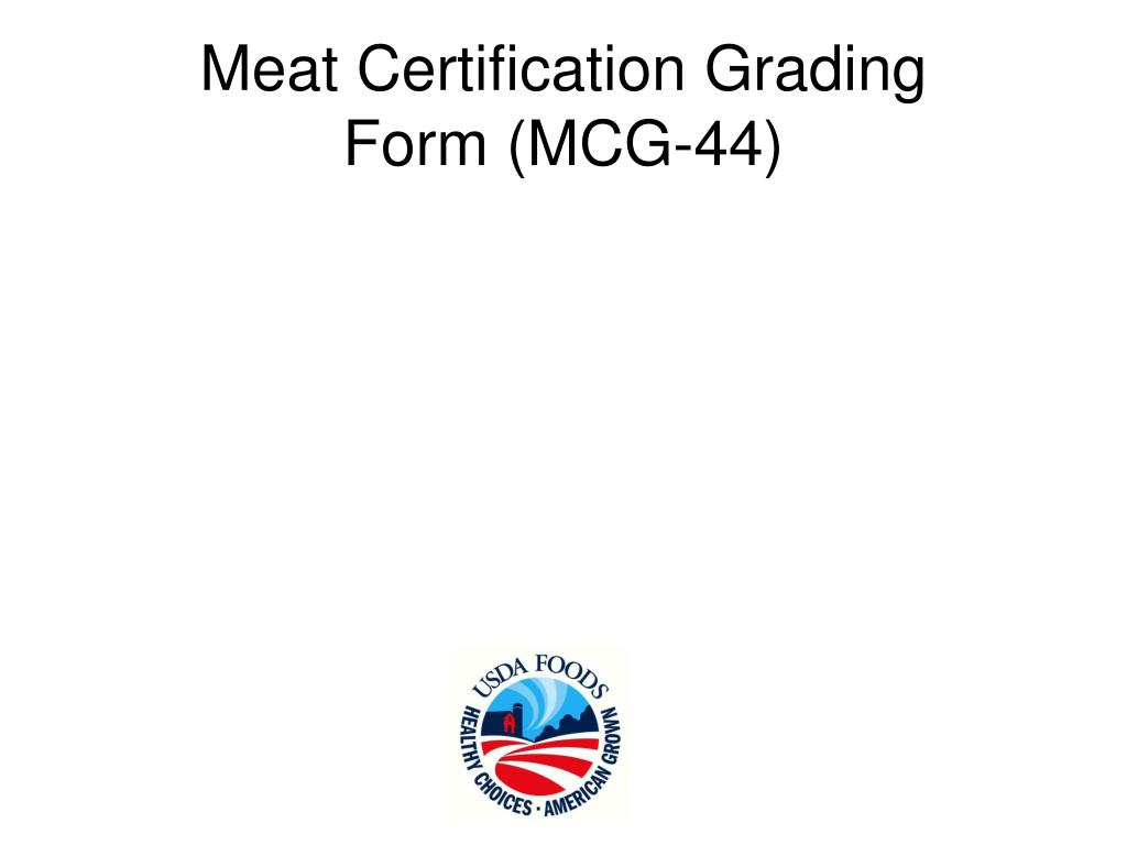 Meat Certification Grading