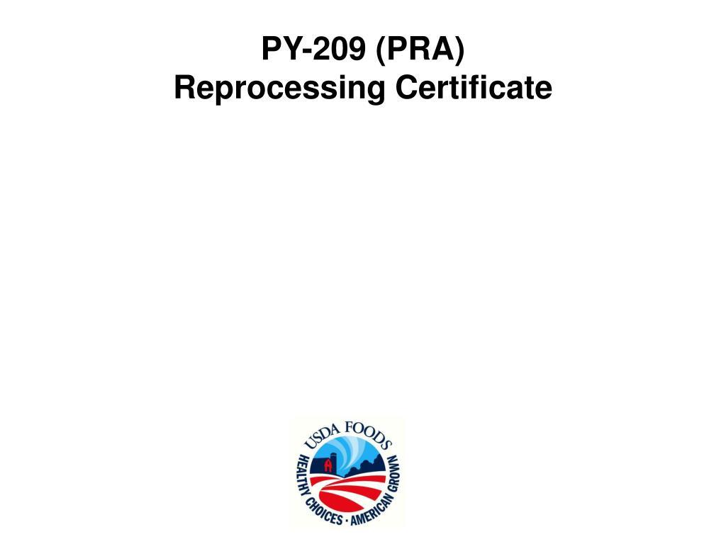 PY-209 (PRA)