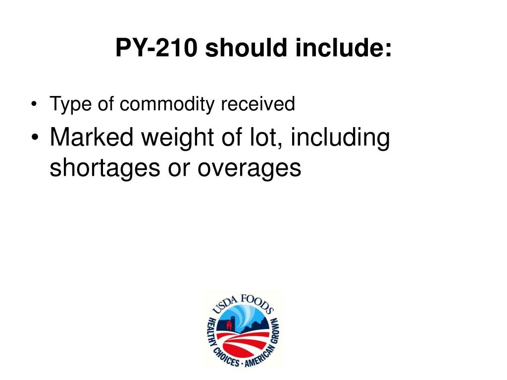 PY-210 should include: