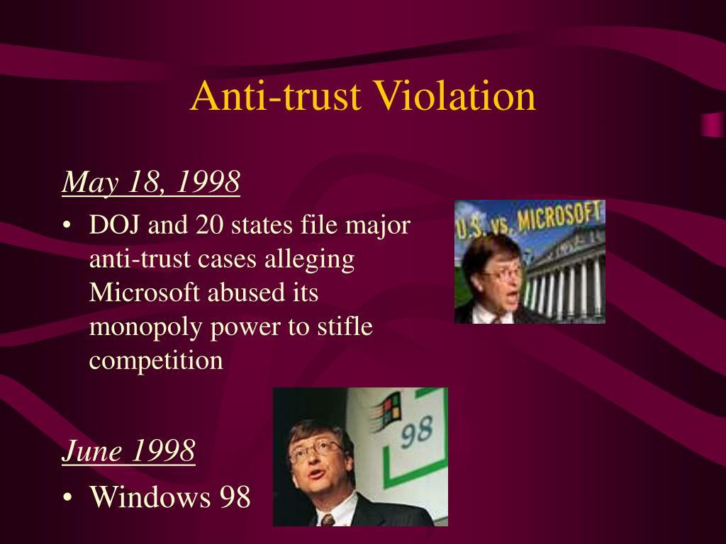 Anti-trust Violation