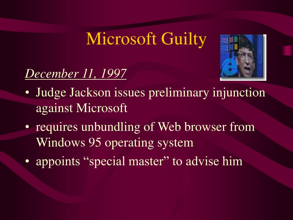 Microsoft Guilty