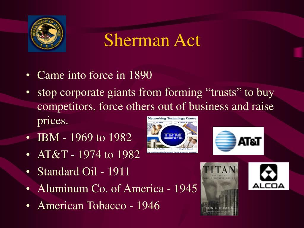 Sherman Act