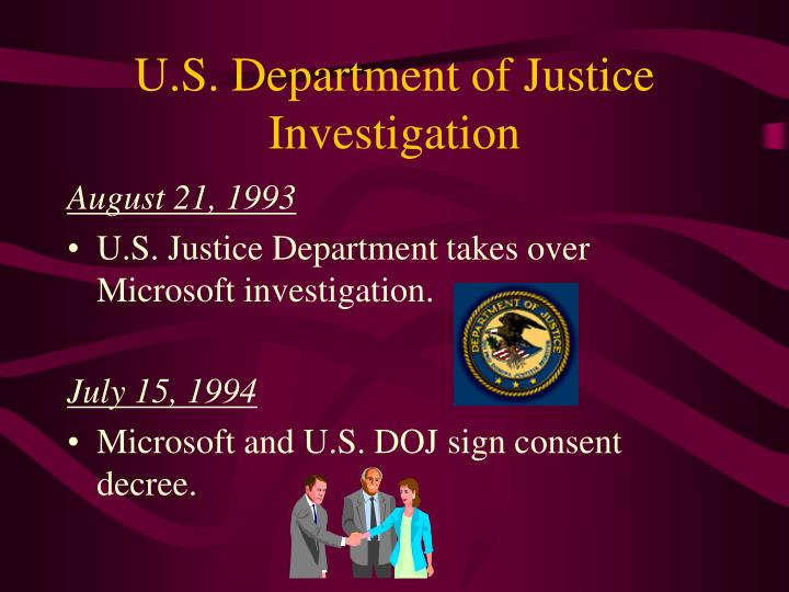 U s department of justice investigation