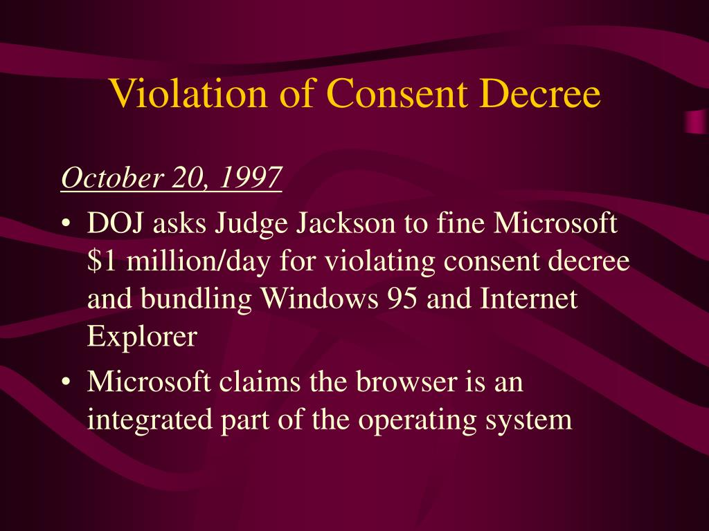 Violation of Consent Decree