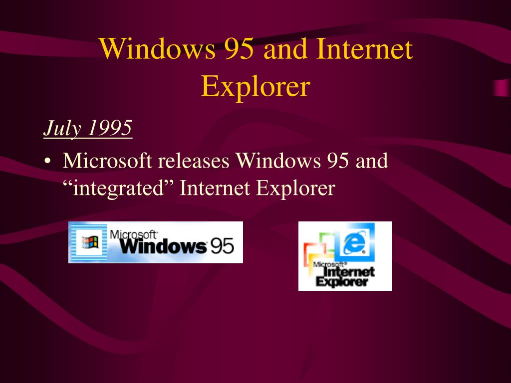 Windows 95 and Internet Explorer