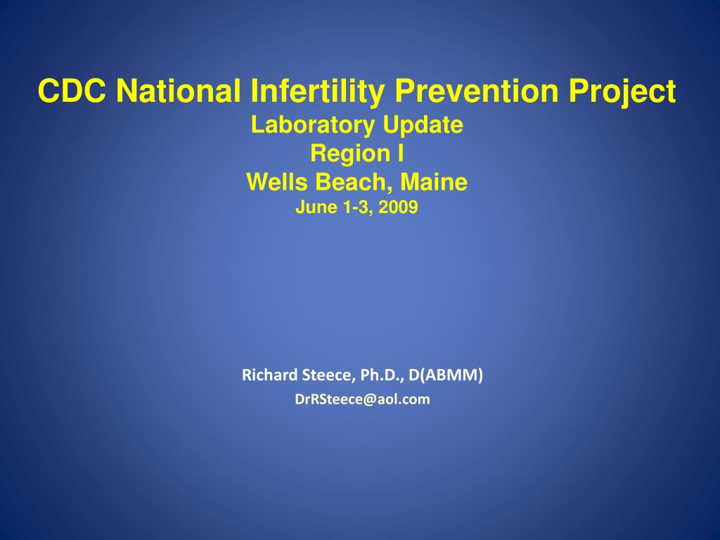 CDC National Infertility Prevention Project