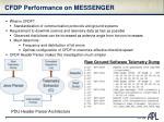 cfdp performance on messenger