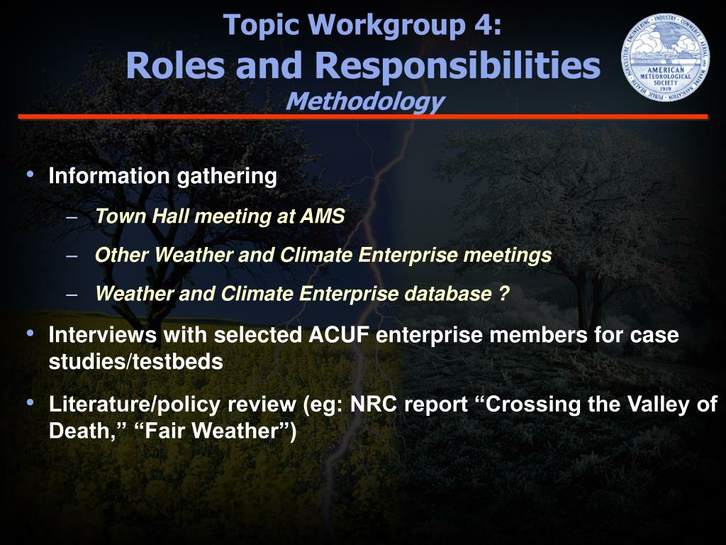 Topic Workgroup 4: