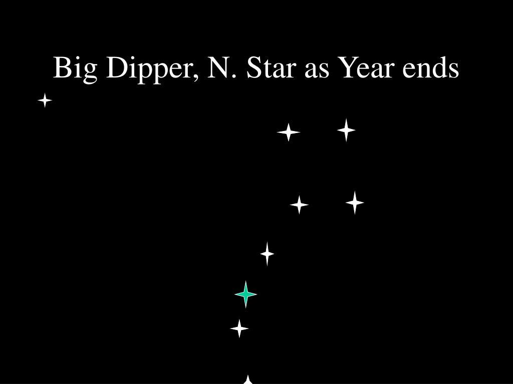 Big Dipper, N. Star as Year ends