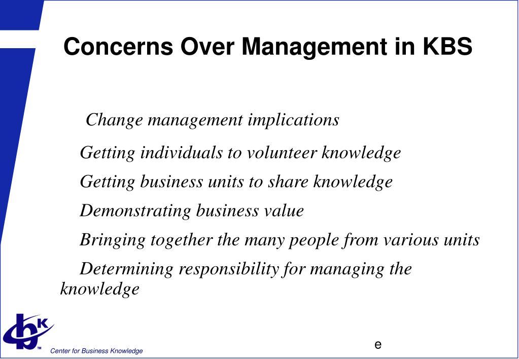 Concerns Over Management in KBS