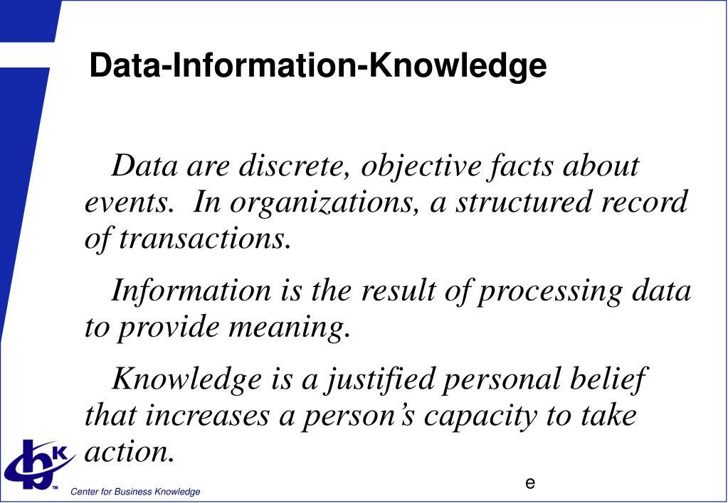 Data-Information-Knowledge