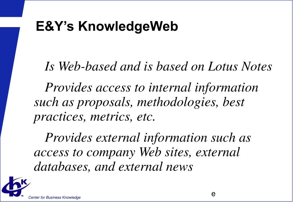 E&Y's KnowledgeWeb