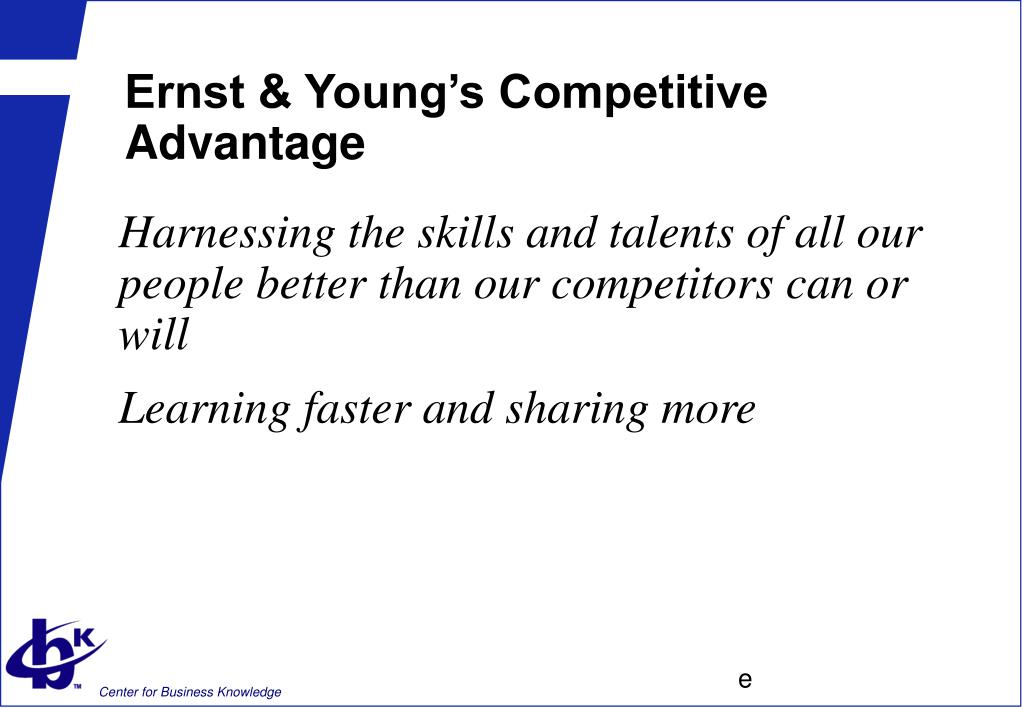 Ernst & Young's Competitive Advantage
