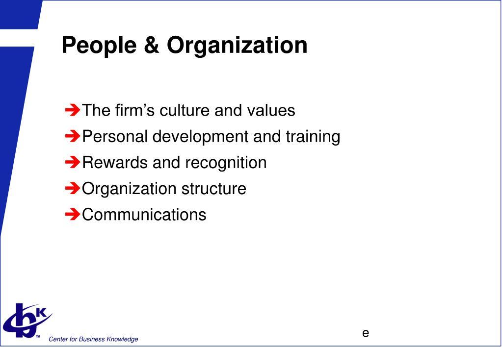 People & Organization