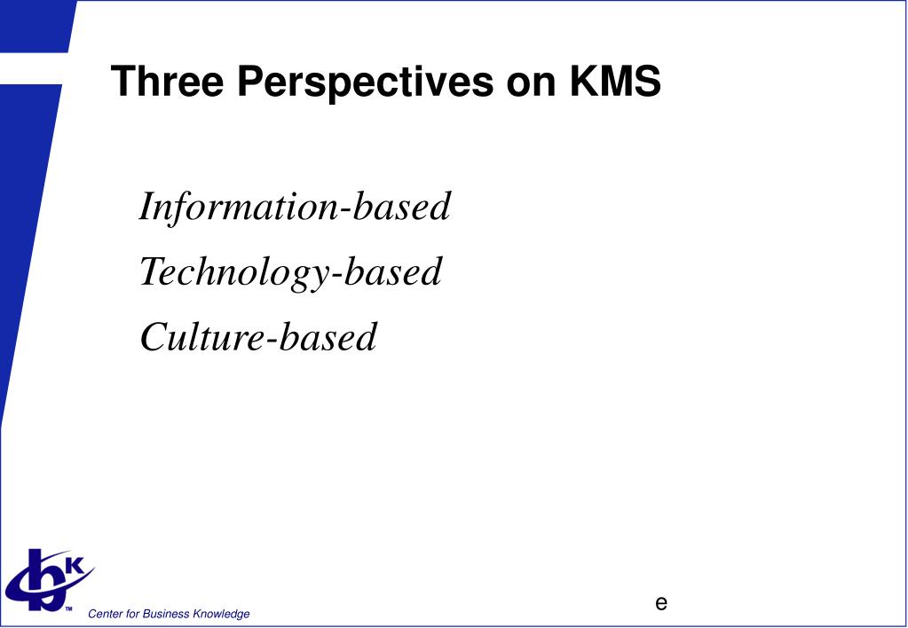 Three Perspectives on KMS