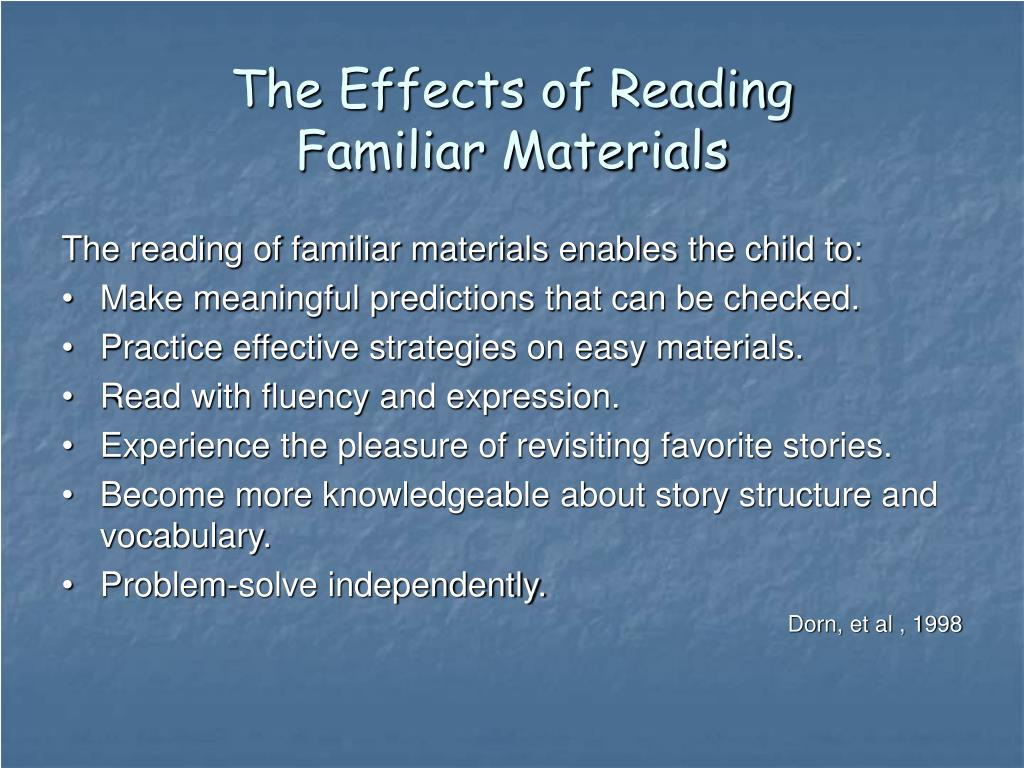 The Effects of Reading