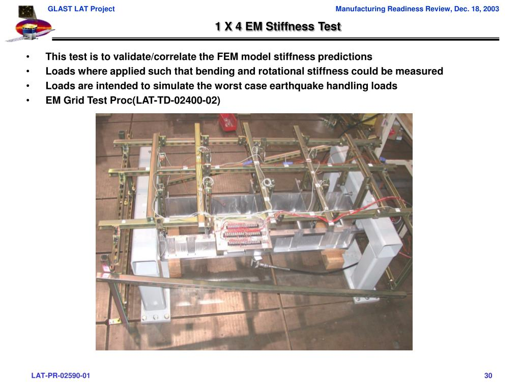 1 X 4 EM Stiffness Test