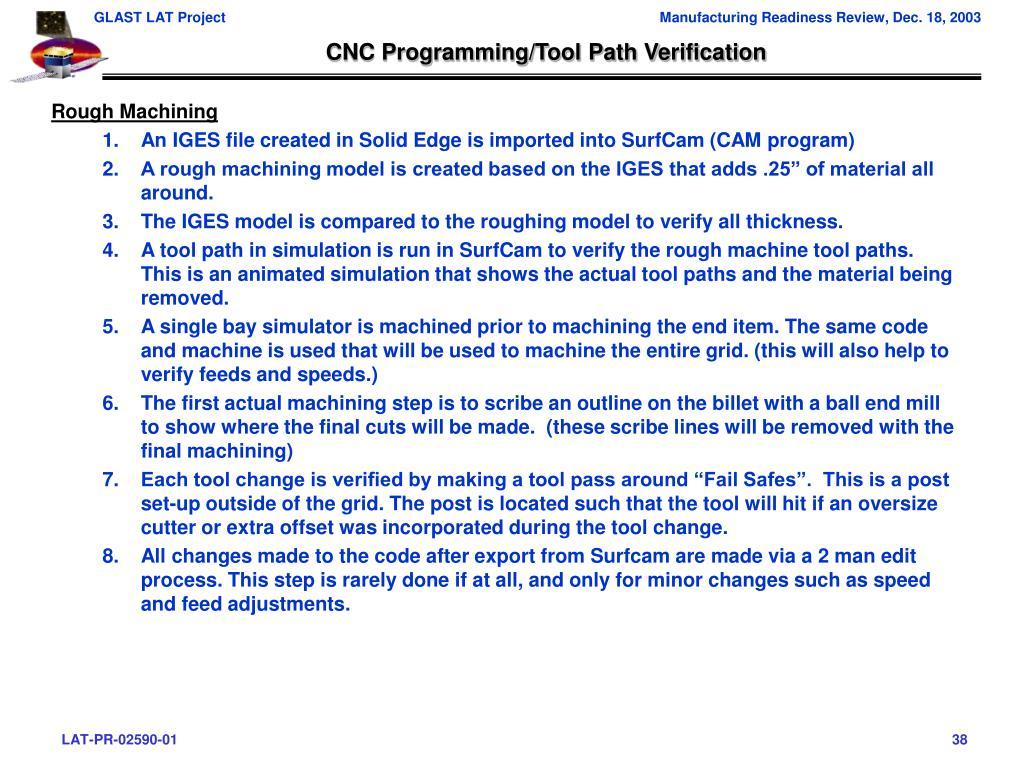 CNC Programming/Tool Path Verification