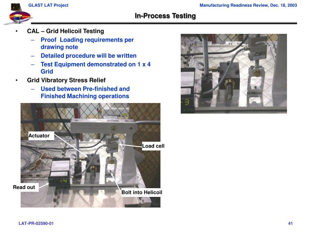 In-Process Testing