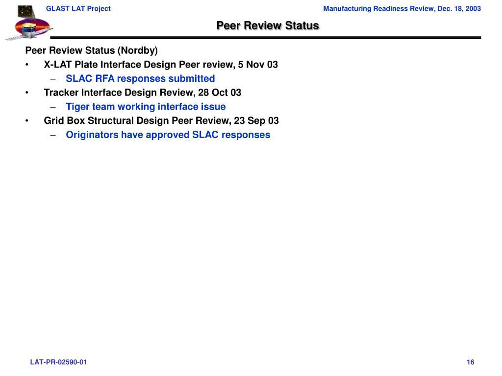Peer Review Status