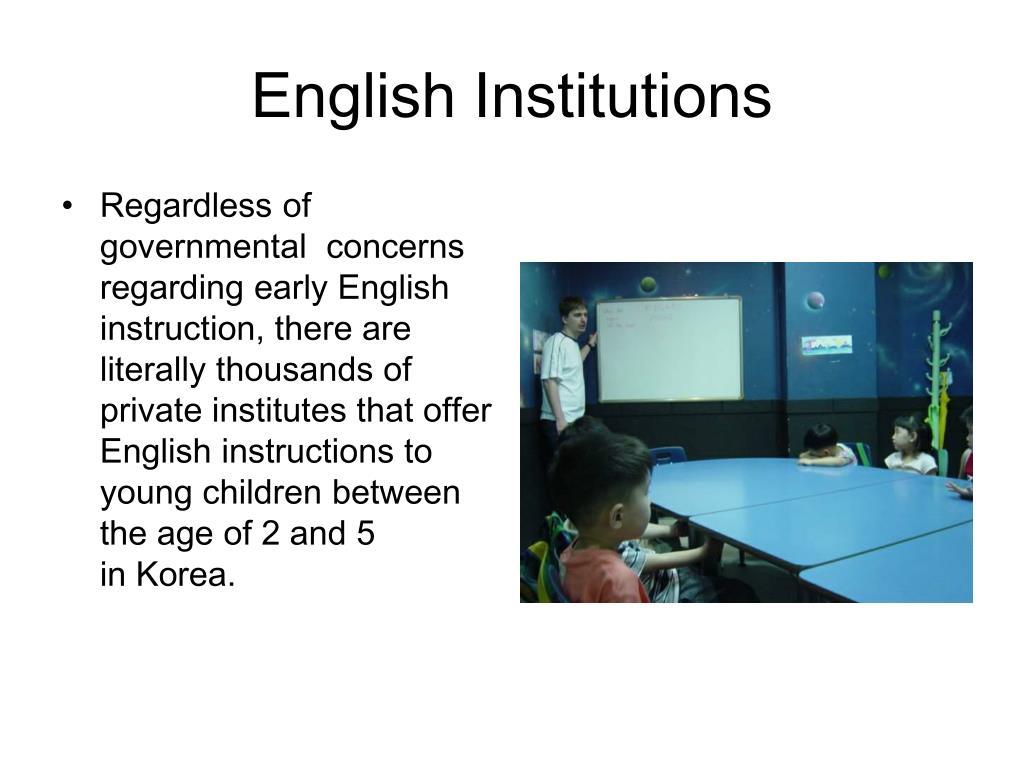 English Institutions