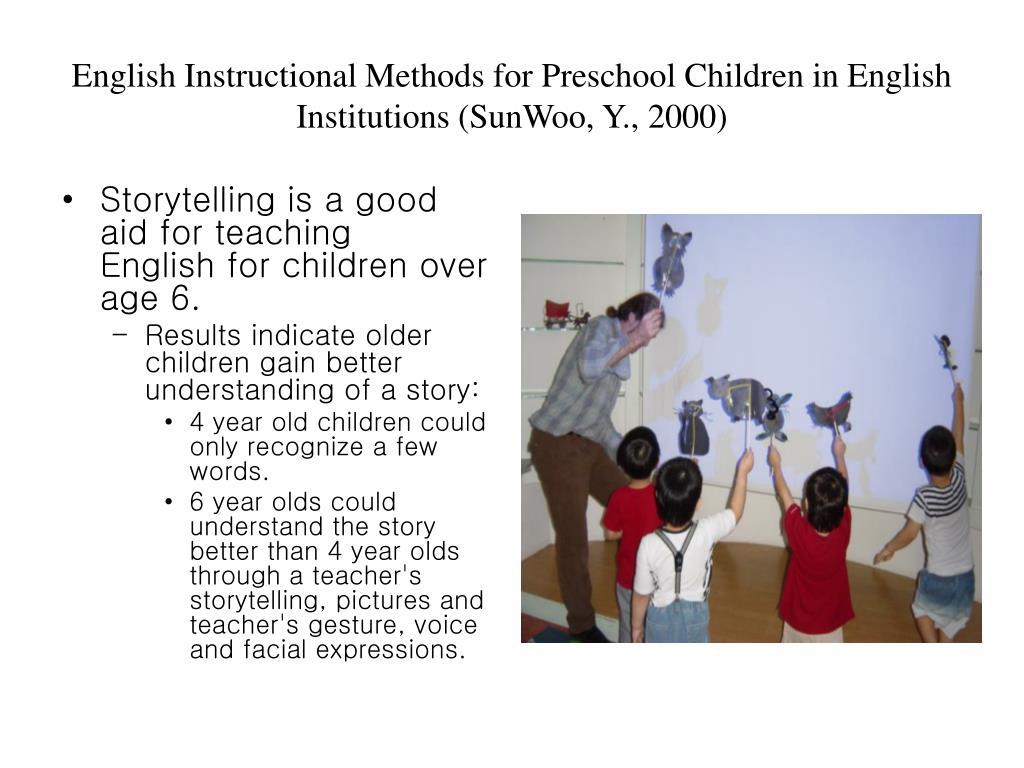 English Instructional Methods for Preschool Children