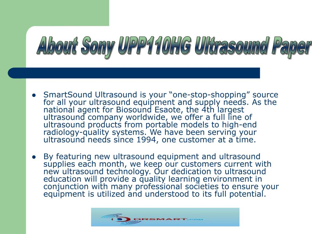 About Sony UPP110HG Ultrasound Paper