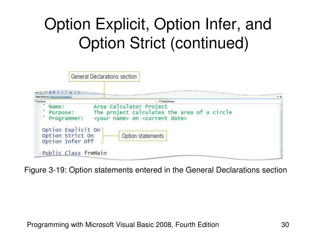 Option Explicit, Option Infer, and Option Strict (continued)