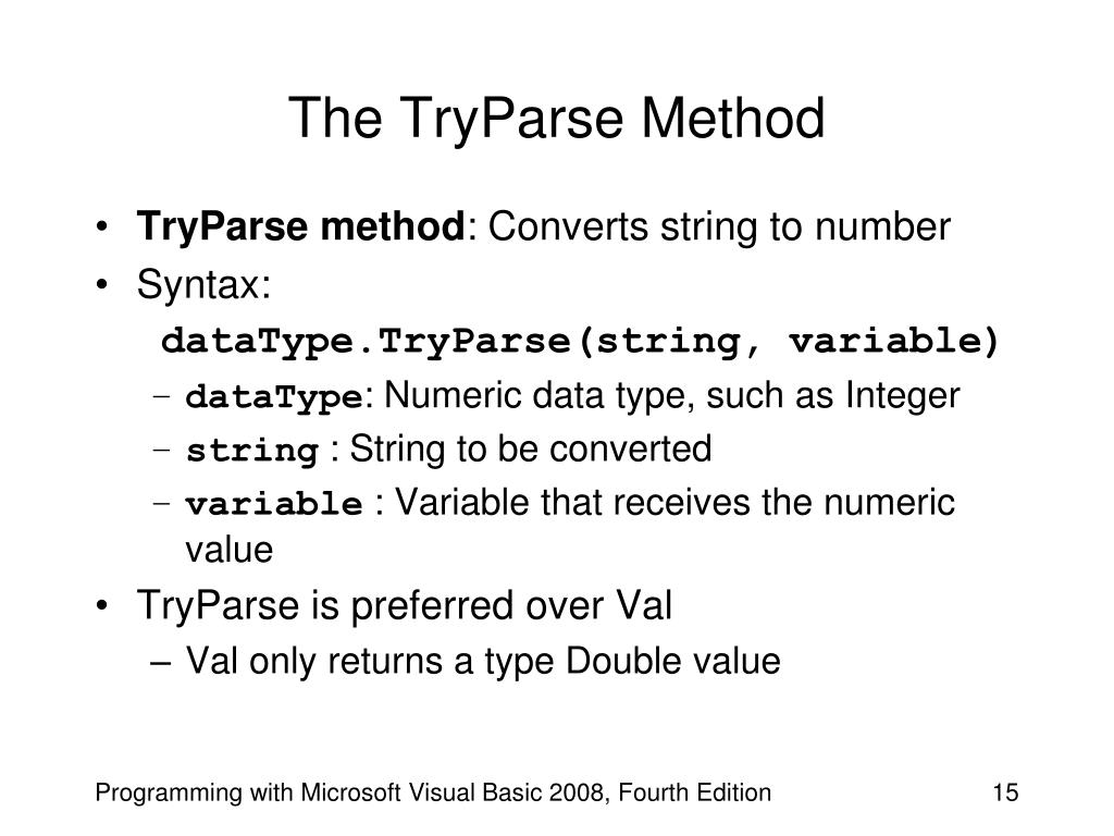 The TryParse Method