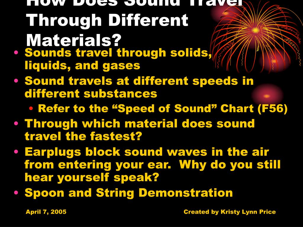 How Can Sound Travel Through Different Materials