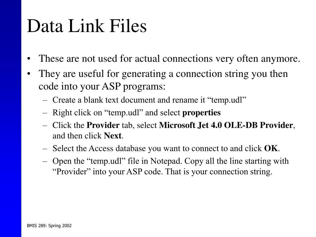 Data Link Files