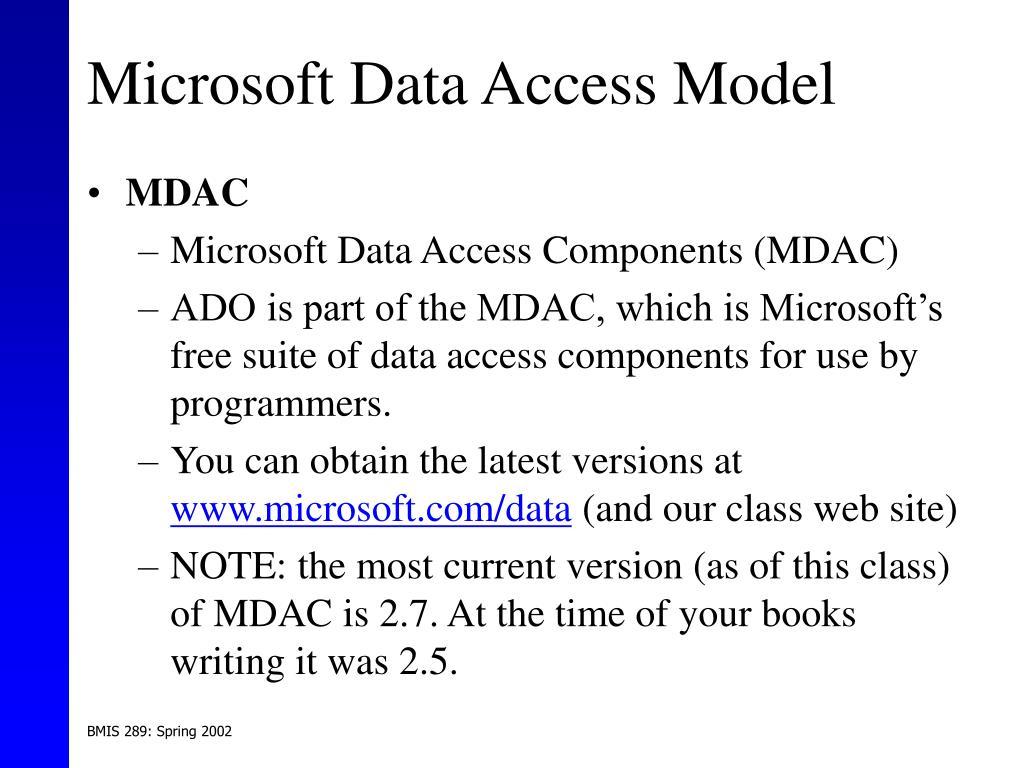 Microsoft Data Access Model