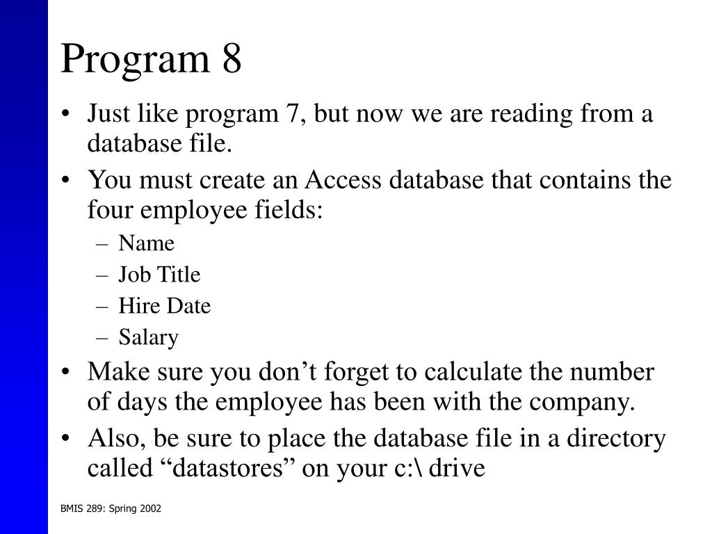 Program 8