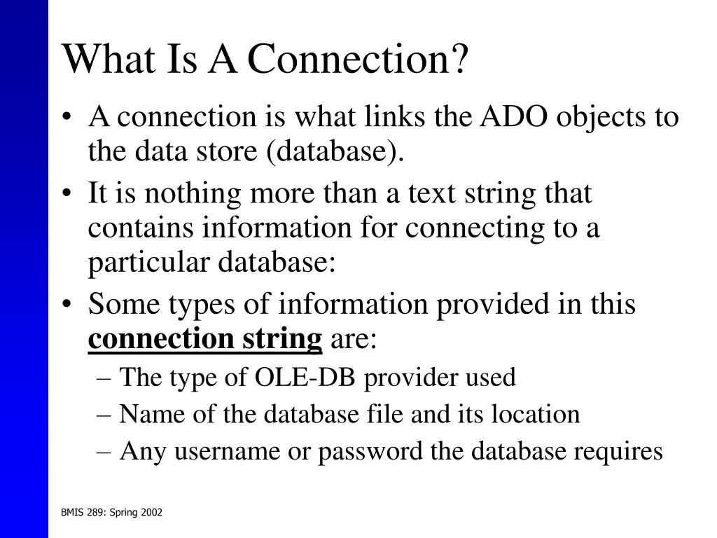 What Is A Connection?