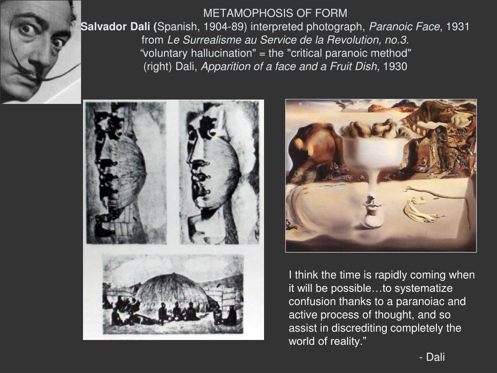 METAMOPHOSIS OF FORM