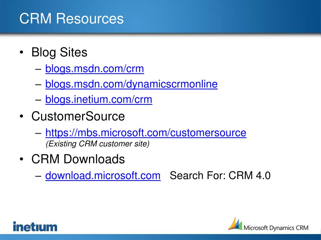 CRM Resources