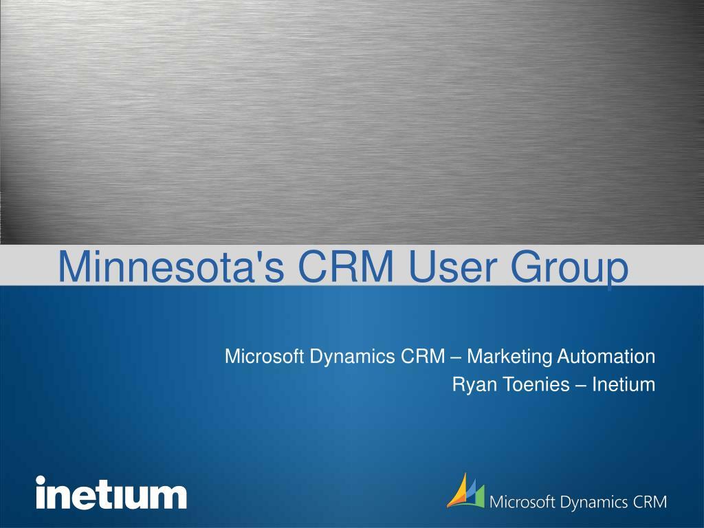 Minnesota's CRM User Group