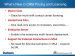 what s new in crm pricing and licensing