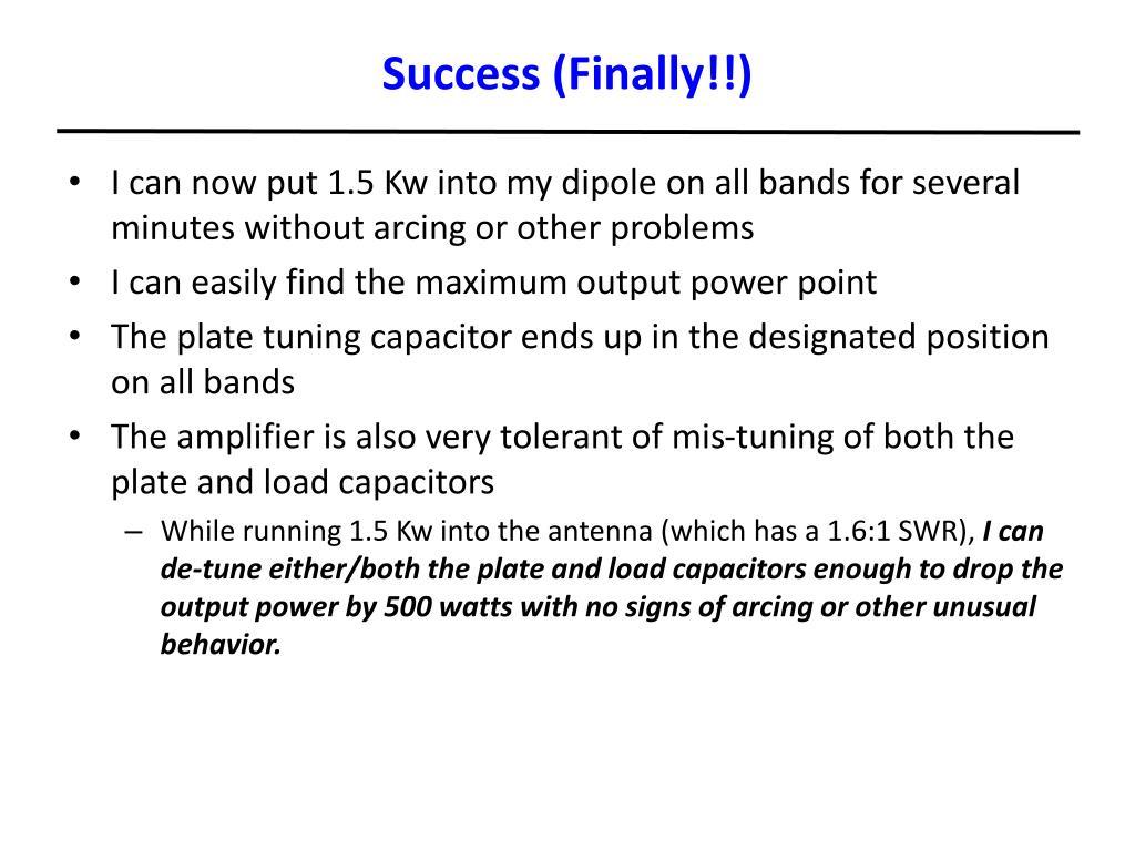 Success (Finally!!)
