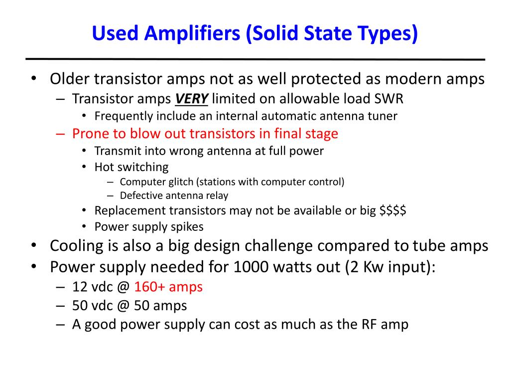 Used Amplifiers (Solid State Types)