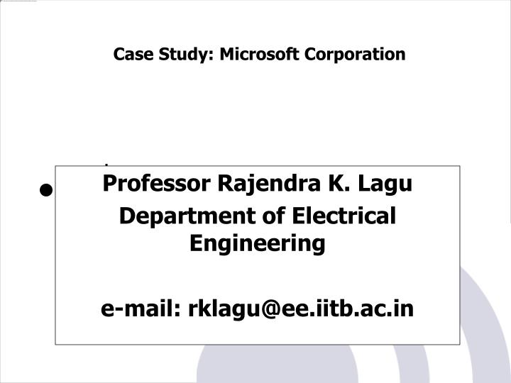 Professor rajendra k lagu department of electrical engineering e mail rklagu@ee iitb ac in