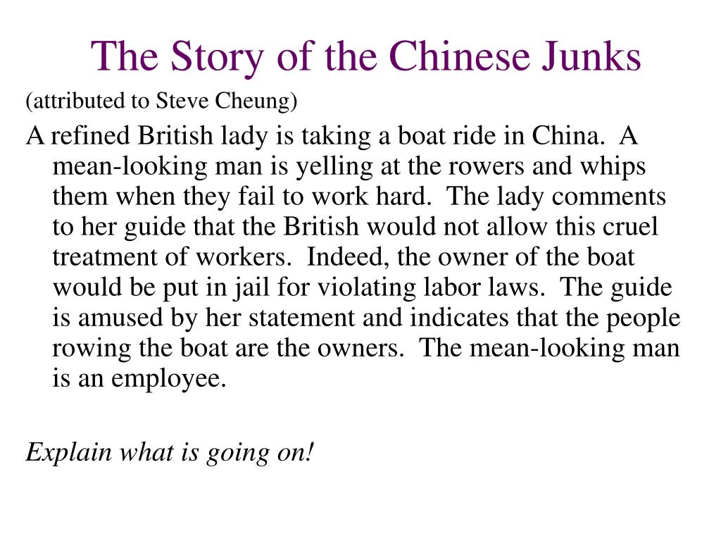 The Story of the Chinese Junks