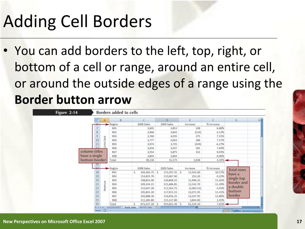 Adding Cell Borders