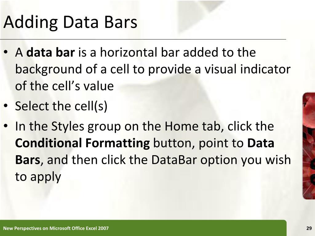 Adding Data Bars