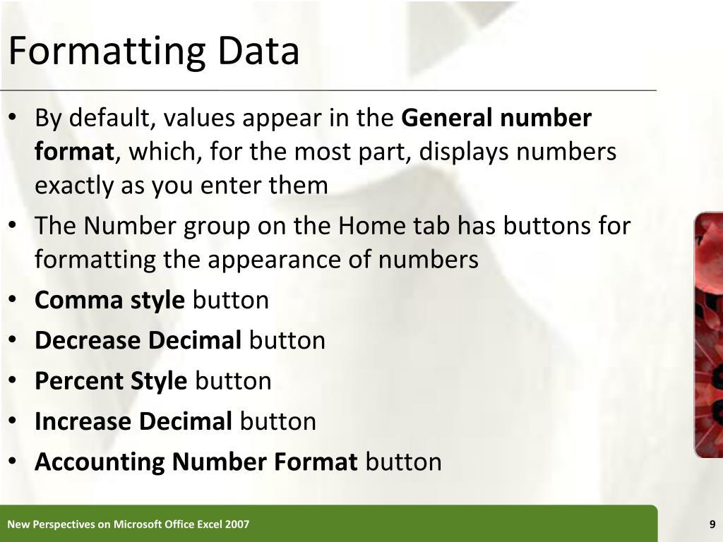Formatting Data